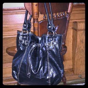 Nine West black faux leather bag